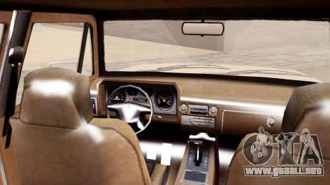 GTA 5 Declasse Rancher XL para GTA San Andreas vista posterior izquierda