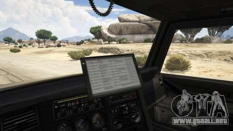 GTA 5 Police Towtruck vista lateral trasera derecha