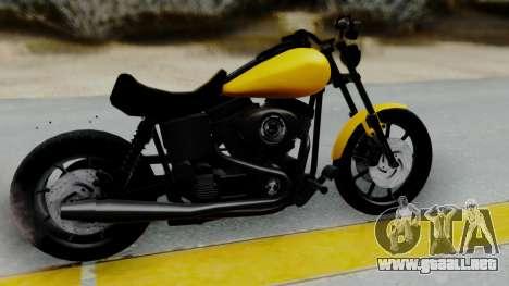 Harley-Davidson Dyna Super Glide T-Sport 1999 para GTA San Andreas vista posterior izquierda