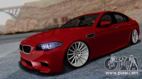 BMW M5 2012 Stance Edition para la visión correcta GTA San Andreas