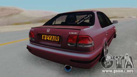 Honda Civic 1.6 para GTA San Andreas left