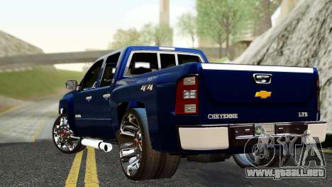 Chevrolet Cheyenne 2012 Dually para GTA San Andreas left