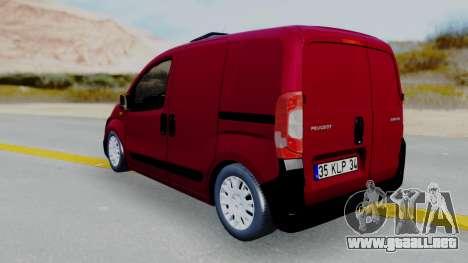 Peugeot Bipper para GTA San Andreas left