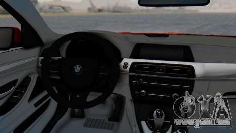 BMW M5 2012 Stance Edition para GTA San Andreas vista hacia atrás