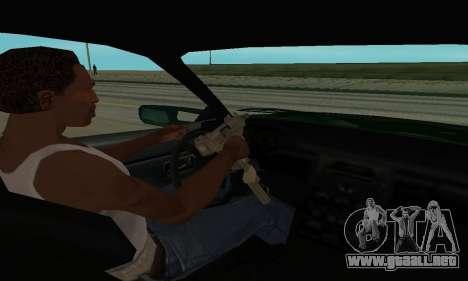 Nissan Skyline R34 Sunray (FlatOut 2) para GTA San Andreas vista hacia atrás
