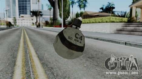 CoD Black Ops 2 - Semtex para GTA San Andreas segunda pantalla