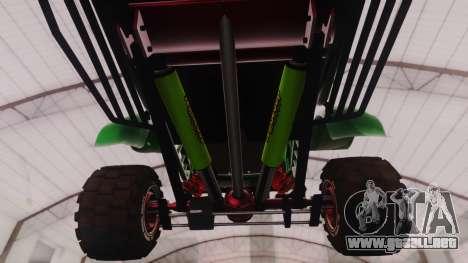 Mudmonster para GTA San Andreas vista hacia atrás