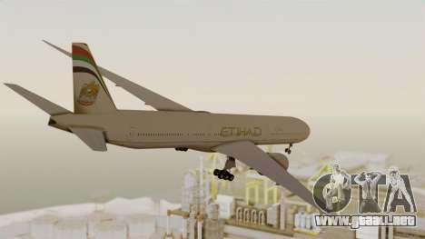 Boeing 777-9x Etihad Airways para la visión correcta GTA San Andreas