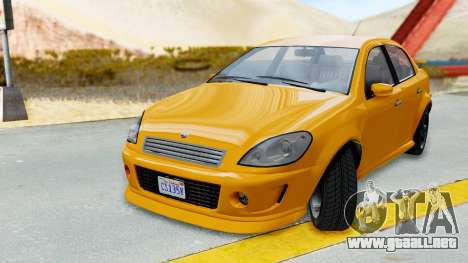 GTA 5 Declasse Premier Coupe para GTA San Andreas vista posterior izquierda