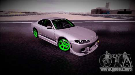 Nissan Silvia S15 Drift Monster Energy para GTA San Andreas vista hacia atrás
