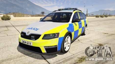 2014 Police Skoda Octavia VRS Estate para GTA 5