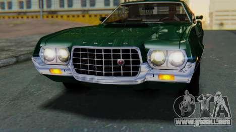 Ford Gran Torino Sport SportsRoof (63R) 1972 IVF para la visión correcta GTA San Andreas