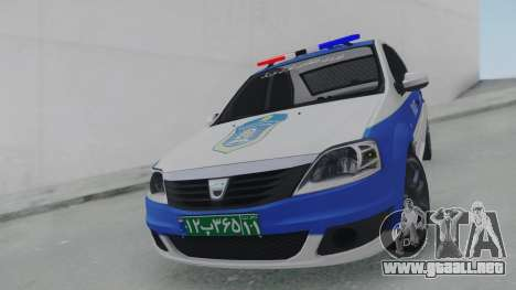 Dacia Logan Iranian Police para la visión correcta GTA San Andreas