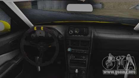 Nissan Skyline R34 Rusty Rebel para GTA San Andreas vista hacia atrás