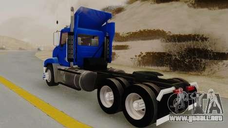 Mack Vision Trailer v3 para GTA San Andreas vista posterior izquierda