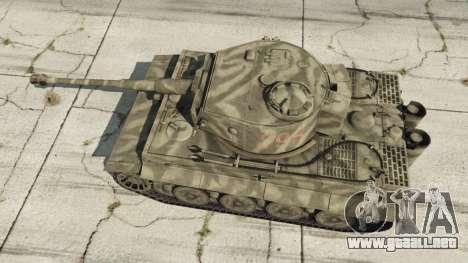 GTA 5 Panzerkampfwagen VI Ausf. E Tiger vista trasera