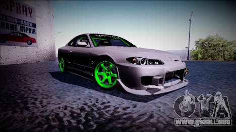 Nissan Silvia S15 Drift Monster Energy para la visión correcta GTA San Andreas