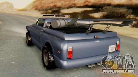 Slamvan v2.0 para GTA San Andreas vista posterior izquierda