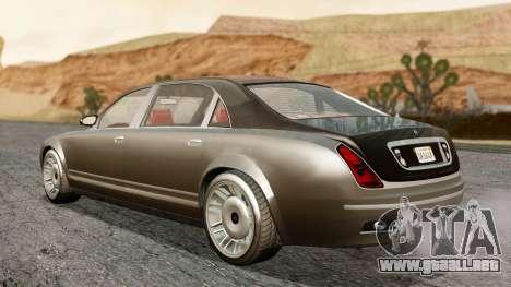 GTA 5 Enus Cognoscenti L IVF para GTA San Andreas vista posterior izquierda