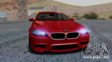 BMW M5 2012 Stance Edition para la vista superior GTA San Andreas