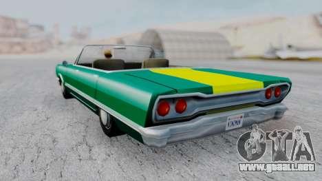 Savanna F&F4 Chevy PJ para GTA San Andreas left