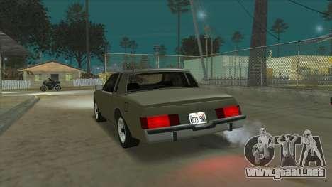 Willard Majestic para GTA San Andreas vista posterior izquierda