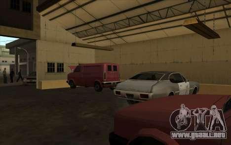 El garaje en el muelle para GTA San Andreas segunda pantalla