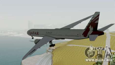 Boeing 777-9x Qatar Airways para la visión correcta GTA San Andreas