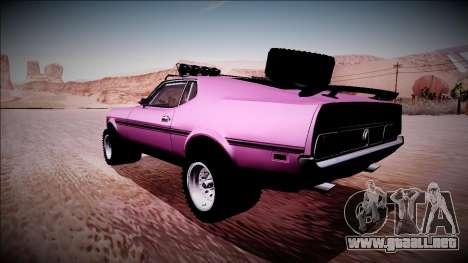 1971 Ford Mustang Rusty Rebel para GTA San Andreas left