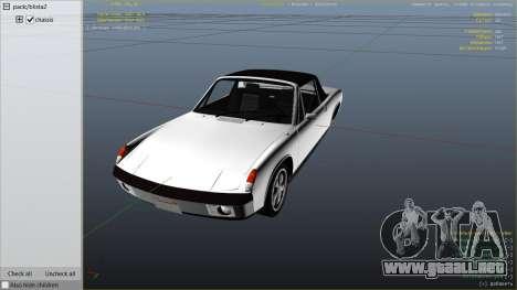 GTA 5 1970 Porsche 914 vista lateral derecha