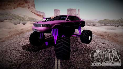 GTA 4 Washington Monster Truck para visión interna GTA San Andreas
