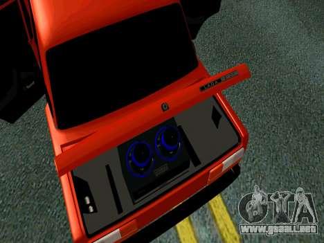 VAZ 2107 Rang Rover Edition para GTA San Andreas vista hacia atrás