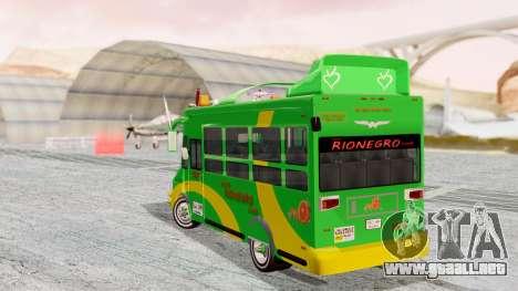 Iveco Turbo Daily Buseton v2 Flota Rionegro para GTA San Andreas left