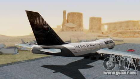 Boeing 747-428 Ed Force One para GTA San Andreas left