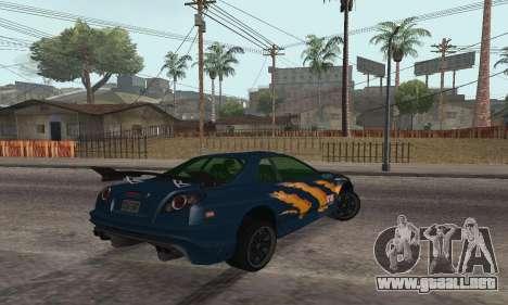 Nissan Skyline R34 Sunray (FlatOut 2) para GTA San Andreas left