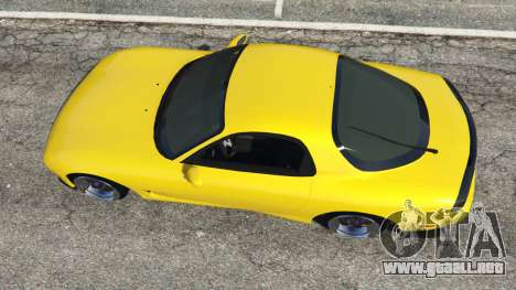 GTA 5 Mazda RX-7 FD3S Stanced [without camber] v1.1 vista trasera