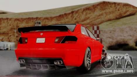 GTA 5 Benefactor Schafter V12 IVF para GTA San Andreas left