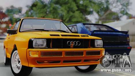 Audi Quattro Coupe 1983 para vista inferior GTA San Andreas