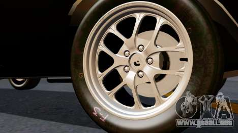 Dodge Charger from FnF4 para GTA San Andreas vista posterior izquierda