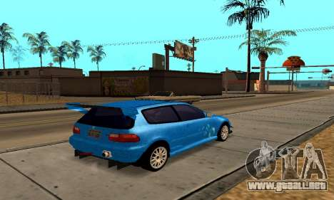 Honda Civic EG6 Tunable para visión interna GTA San Andreas