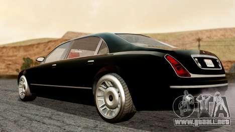 GTA 5 Enus Cognoscenti L para GTA San Andreas vista posterior izquierda