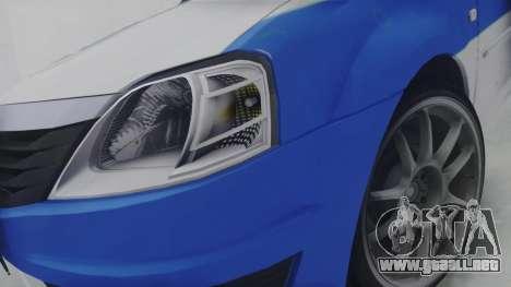 Dacia Logan Iranian Police para GTA San Andreas vista hacia atrás