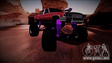 GTA 4 Emperor Monster Truck para GTA San Andreas vista hacia atrás