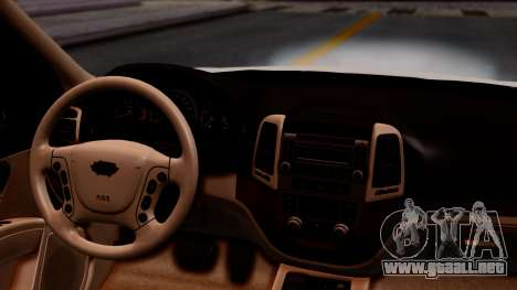 Hyundai Santa Fe para GTA San Andreas vista hacia atrás