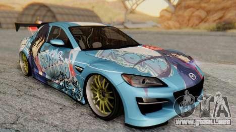 Mazda RX-8 Itasha para GTA San Andreas