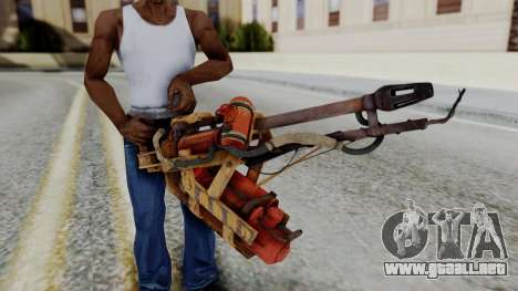 Fallout 4 - Flamethrower para GTA San Andreas tercera pantalla