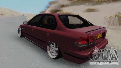 Honda Civic 1.6 para GTA San Andreas vista posterior izquierda