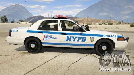 GTA 5 NYPD Ford CVPI HD vista lateral izquierda