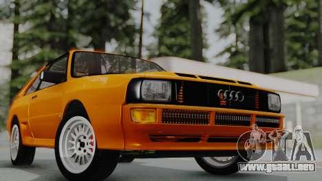 Audi Quattro Coupe 1983 para la visión correcta GTA San Andreas