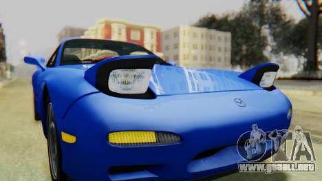 Mazda RX-7 1993 v1.1 para la vista superior GTA San Andreas